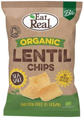 Eat Real Bio Lencse Chips Teebg.Sós 100 g