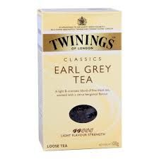 Twinings earl grey tea papirdobozos